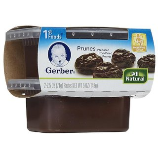 Gerber 1st Foods 2Pk 142G (5oz) - Prunes