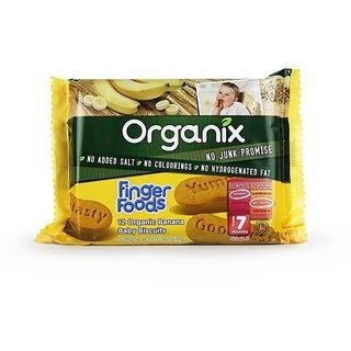 Organix Finger Foods 12 Organic Banana Baby Buscuits (7m+) - 100G