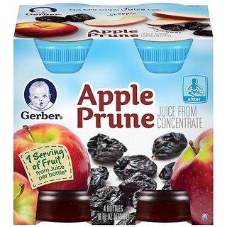 Gerber Juice 4Pk 473ml (16oz) - Apple Prune Juice