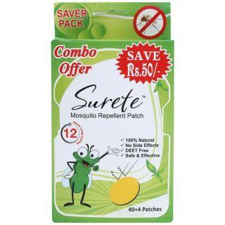 Surete Mosquito Repellent Patch - 44Pk