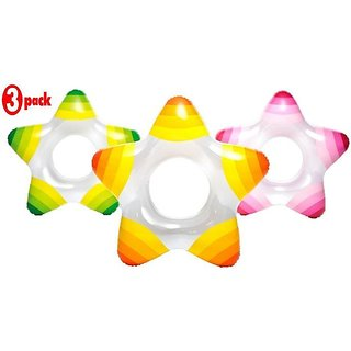 Intex Star Ring (Assorted) - 59243NP (29In X 28In) (Pack of 3)
