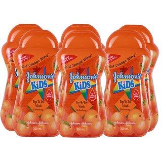 Johnsons Kids Top To Toe Wash 300ml - Wild Orange Wave (Pack of 6)