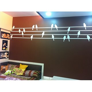Birds in a Row Wall Decal