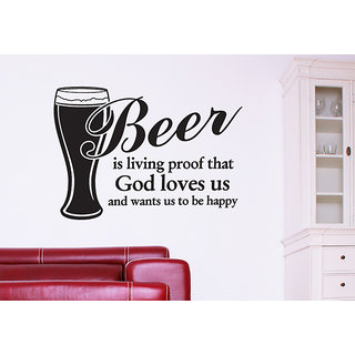 Be Happy With Beer Wall Decal