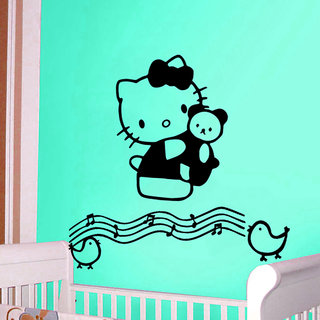 Hello Kitty Musical Notes Wall Decal