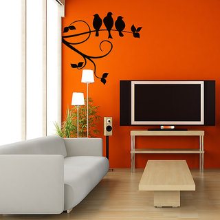 Pigeons In a Row Wall Decal