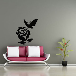 Rose And Butterfly Wall Decal