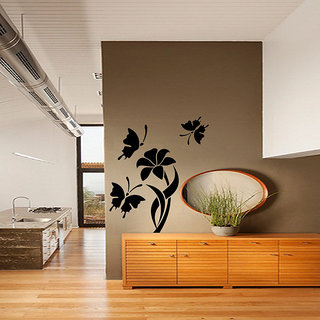Butterflies And Lily Wall Decal