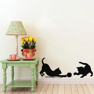 Cats At Play Wall Decal
