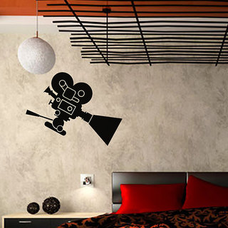 Movie Camera Wall Decal