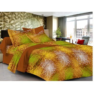 Lali Prints 100% Cotton Comfort Designer 1 Double Bedsheet with 2 Pillow Covers