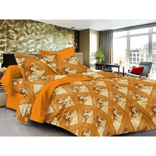 Lali Prints Solid Superior Design 100% Cotton 1 Double Bedsheet with 2 Pillow Covers