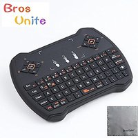 [2016 Latest Wireless Keyboard ]Bros Unite K9 2.4G Mini Wireless Keyboard With Touchpad Fly Multi-media Portable Game Control Handle Joypad For PC Andriod TV Box Media Mini TV PC Ipad Sony Laptop Xbox 360 PS3 (Black)