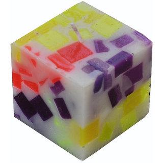 Cube Chunk Pillar Candle