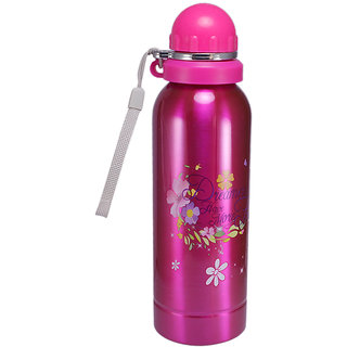 Saamarth Impex Figured Stainless Steel Double Walled Insulated Chiller Water Bottle 700ML for Kids SI-3220