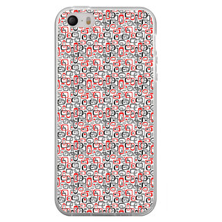 ifasho Modern Theme of colorful Squre inside square and dots Back Case Cover for Apple Iphone 4