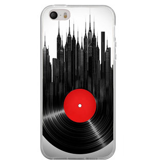 ifasho gramophone recod animated design as tower Back Case Cover for Apple Iphone 4