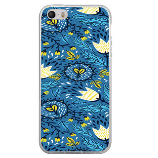 ifasho Animated Pattern colrful design flower with leaves Back Case Cover for Apple Iphone 4