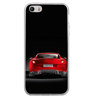 ifasho Red Stylish Car from back side Back Case Cover for Apple Iphone 4