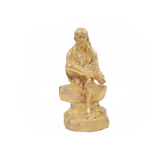 Creative Crafts Brass Figurine Sai Baba Hindu God Statue Home Decor Handicraft Corporate/Diwali Gift & Showpiece