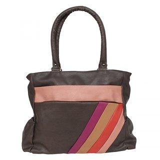 Saffron Craft Women's PU Leather Brown Shoulder Bag