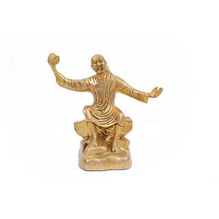Creative Crafts Brass Figurine Sai Baba Idol Hindu God Statue Home Decorative Handicraft Corporate/Diwali Gift & Showpiece