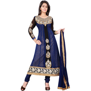 Aaina Blue Georgette Dress Material (SB-1349-OCT)