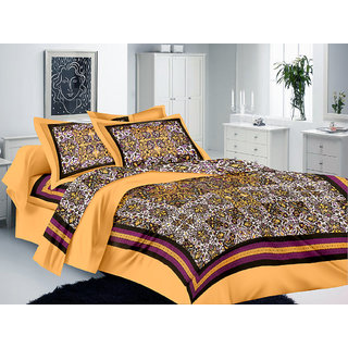Lali Prints Rajasthani Print 1 Single Bedsheet with 2 Pillow Covers