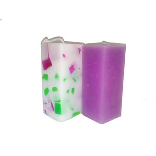 Square Chunk Small Pillar Candles