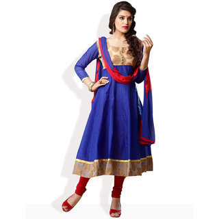 Shah Wah Electrifying Appeal Anarkali Ready To Stitch Suit (Medium Blue)