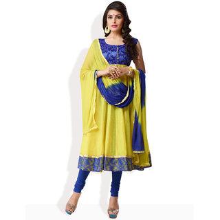 Shah Wah Zesty Aura Anarkali Ready To Stitch Suit (Yellow)