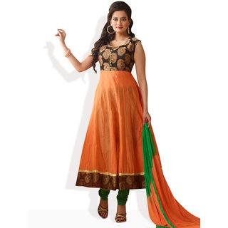 Shah Wah Citrus Crush Anarkali Ready To Stitch Suit (Orange)