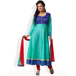 Shah Wah Sky Splendour Anarkali Ready To Stitch Suit (Teal)
