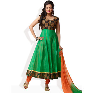 Shah Wah Verdant Vibes Anarkali Ready To Stitch Suit (Green)