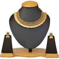 Goddess laxmi coin necklace set by the pari ey-428