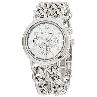 2015 New Fashion Women Geneva Luxury Chain Alloy Band Analog Bracelets Wrist Watches