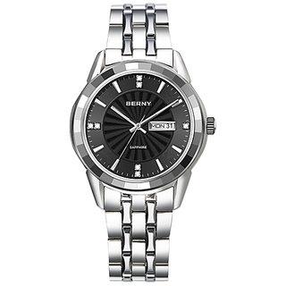 Berny Quartz Analog Watch,2741M-A,Men, black dial