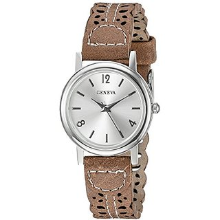 Geneva Womens FMDX281C Analog Display Japanese Quartz Beige Watch