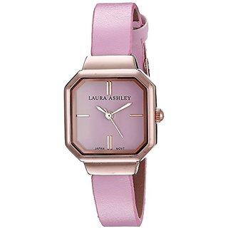 Laura Ashley Womens LA31004PK Analog Display Japanese Quartz Pink Watch