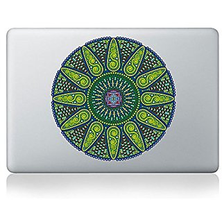 Geometric Sunshine Mandala Vinyl Sticker for Macbook (13-inch Macbook and 15-inch Macbook)
