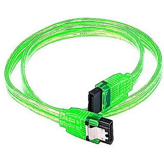 eDragon 18inch SATA 6Gbps Cable w/Locking Latch - UV Green - 10 Pack