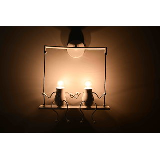 Contemporary steel wall lamp by Lightspro