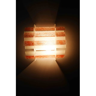 Contemporary white and brown steel wall lamp by Lightspro
