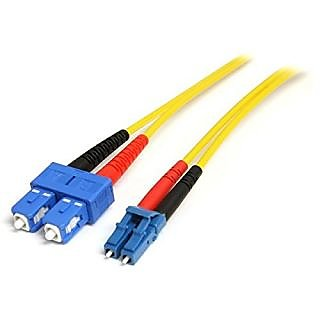 StarTech.com 1-Meter Single Mode Duplex Fiber Patch Cable LC-SC (SMFIBLCSC1)