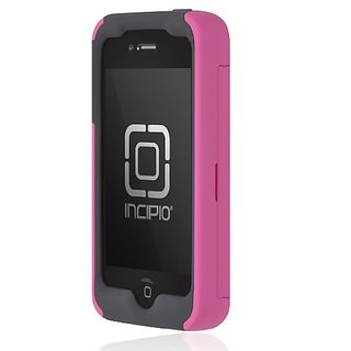 Incipio IPH-675 Stowaway Credit Card Case for iPhone 4/4S - Retail Packaging - Pink/Gray