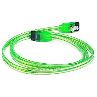 eDragon 36inch SATA 6Gbps Cable w/Locking Latch - UV Green