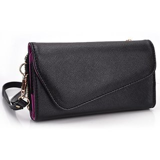 Kroo Clutch Wallet with Wristlet and Crossbody Strap for 5