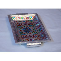 A Must Designer Meenakari Serving Tray For Tea / Coffee / Water For All Homes