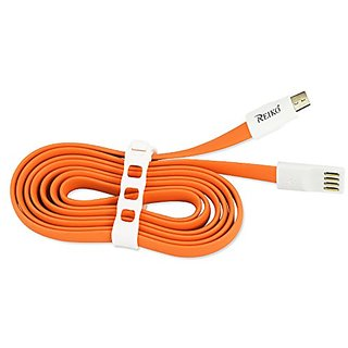 Reiko 7inch 8pin magnetic Charge + Sync Micro USB cable - Retail Package -Orange