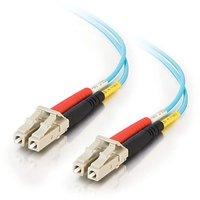 C2G / Cables To Go 01114 LC-LC 10Gb 50/125 OM3 Duplex Multimode PVC Fiber Optic Cable - Aqua (8 Meter)